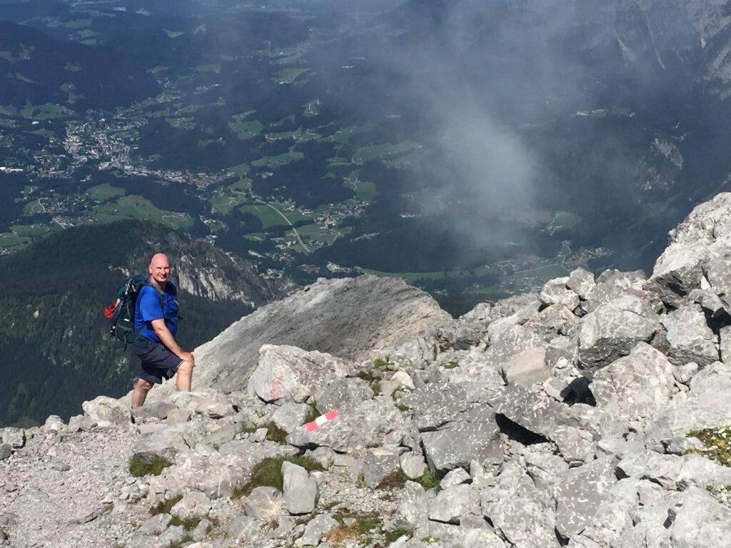 Rainer Sichert in den Bergen
